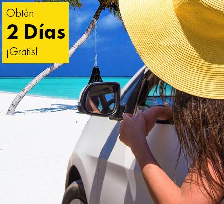 Renta un auto con Europcar y disfruta de dos días de renta sin cargo.